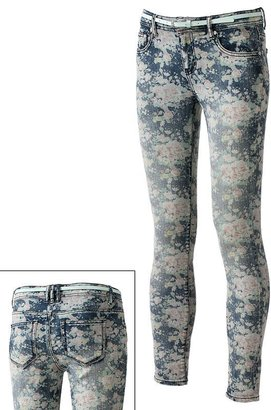 Tinseltown floral skinny ankle jeans - juniors