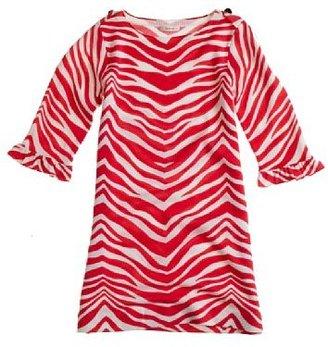 J.Crew Girls' zebra-print merino sweater dress