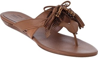 Daniblack Mella Thong Sandal Nude Leather