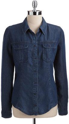 GUESS Long-Sleeved Denim Shirt