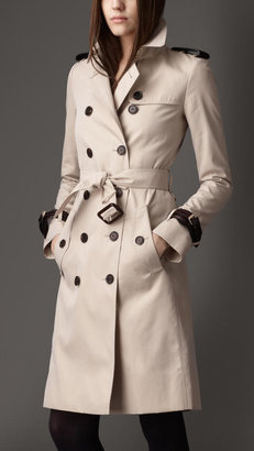 Burberry Long Brogue Detail GabardineTrench Coat