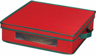 Household Essentials Red Holiday Charger Plate Storage Chest