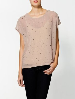 Collective Concepts Rhinestone Studded Top