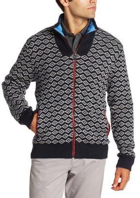Nautica Men's Graphic Zip Front Sweater