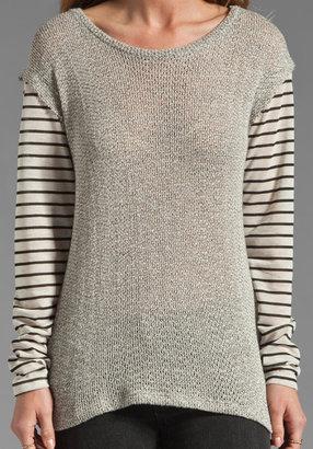 LnA Alexandrine Sweater in Grey/Black/Oat