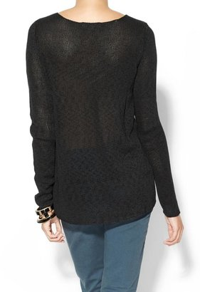 Juicy Couture Tinley Road Vegan Leather Inset Sweater