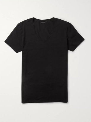 Derek Rose Jack Pima Cotton-Blend T-Shirt - Men - Black