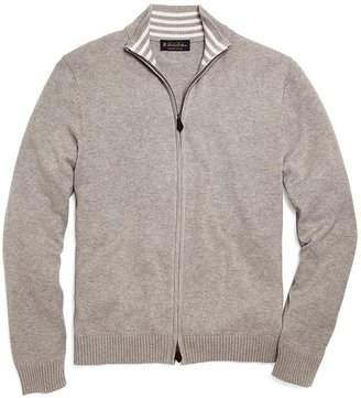 Brooks Brothers Supima® Zip-Front Cardigan