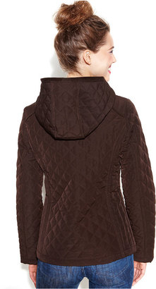 Laundry by Design Petite Coat, Hooded Diamond-Quilted Puffer
