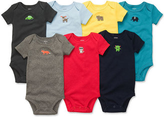 Carter's Baby Bodysuits, Baby Boys 7-Pack Short-Sleeved Bodysuits