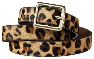 Merona Women's Leopard Print Calf Hair Belt - Brown & Tan - Merona $16.99 thestylecure.com