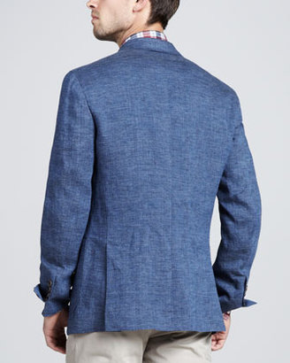 Brunello Cucinelli Double-Breasted Linen Jacket