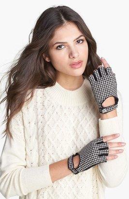 Lauren Ralph Lauren Houndstooth Fingerless Driving Gloves
