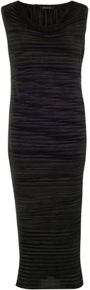Chesca Sleeveless Crush Pleat Dress, Black