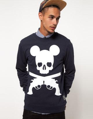 Trainerspotter Crew Sweatshirt Exclusive To ASOS Mickey Print
