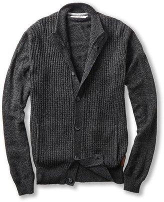 Ben Sherman Funnel Neck Jacket Melange Button Through Cardigan