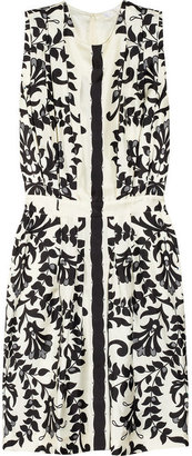 Chloé Floral-print silk dress