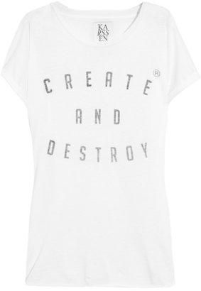 Zoe Karssen Create and Destroy cotton and modal-blend T-shirt