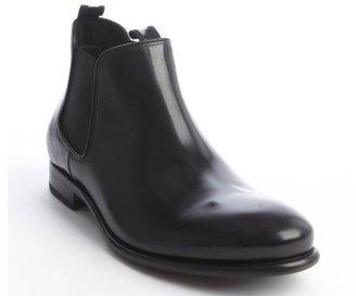 Salvatore Ferragamo black leather 'Santo' ankle boots