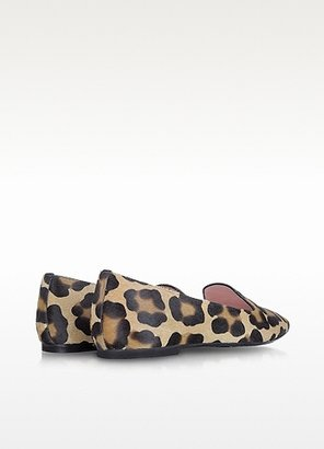 Pretty Ballerinas Faye - Leopard Print Pony-Hair Loafer