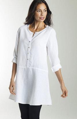 J. Jill Linen-blend peplum tunic