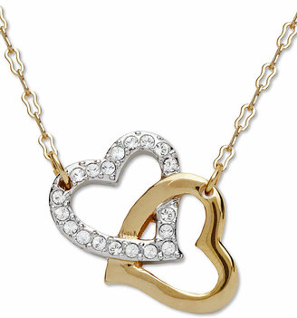 Swarovski Pendant, Interlocking Crystal Hearts $99 thestylecure.com