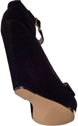 Steve Madden Xtrime Wedge Sandal Black Fabric