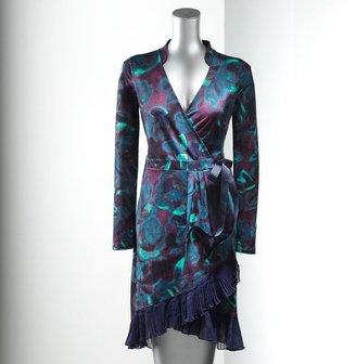 Vera Wang Simply vera watercolor wrap dress