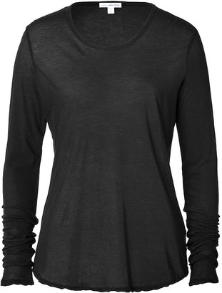 James Perse Cotton Long Sleeve T-Shirt