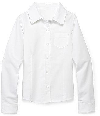 Izod Long-Sleeve Oxford Shirt - Girls
