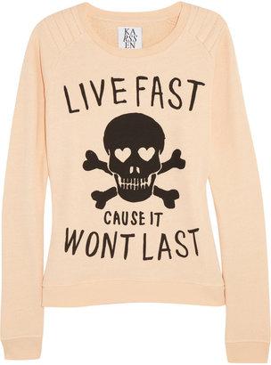 Zoe Karssen Live Fast cotton-blend sweatshirt