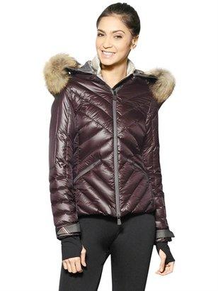 Makalu Raccoon Fur Nylon Down Jacket