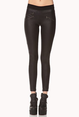 Forever 21 Bombshell Faux Leather Leggings