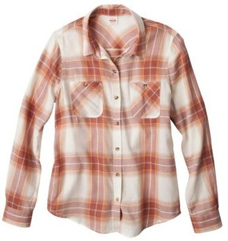 Mossimo Juniors Long Sleeve Button Down Top - Assorted Colors