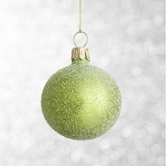 Crate & Barrel Apple Green Flurry Ball Ornament