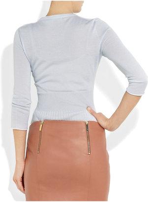 Jil Sander Fine-knit cashmere and silk-blend sweater