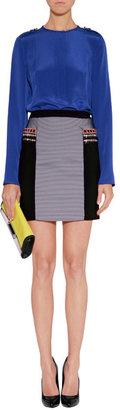 Matthew Williamson Black-Multi Embroidered Trim Mini-Skirt