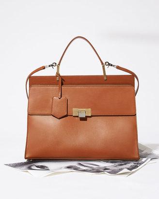 Balenciaga Le Dix Cartable Zip Satchel Bag, Brown