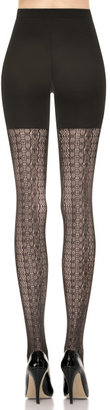 Spanx Center-Stage Open Weave Shaping Tights, Antique Stripe