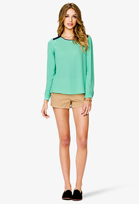 Forever 21 Essential Colorblocked Blouse