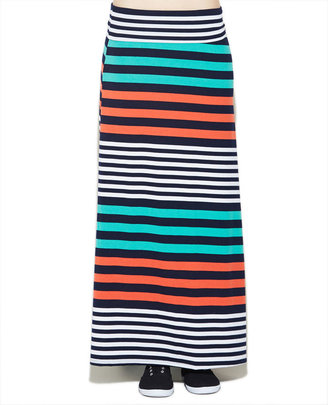Wet Seal Multicolor Stripe Maxi Skirt