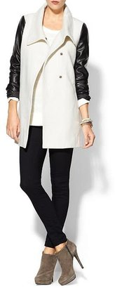 Juicy Couture Tinley Road Vegan Leather Sleeve Coat