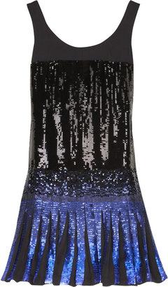 Anna Sui Ombre sequins tank dress