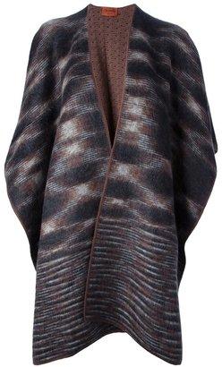 Missoni patterned cape