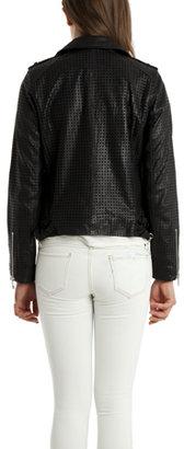 IRO Caelie Perforated Leather Jacket