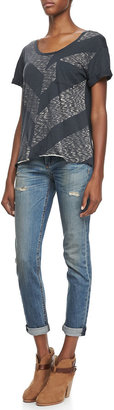 Rag and Bone Dre Slim Boyfriend Distressed Jeans