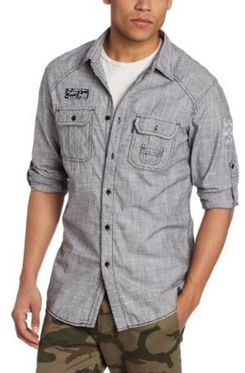 Ecko Unlimited Men's Dime City Long Sleeve Woven Shirt