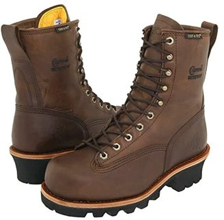 Chippewa 8 Bay Apache Insulated Waterproof Steel Toe Logger (Brown) Men's Work Boots