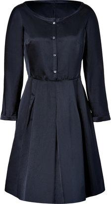 Jil Sander Navy Navy Silk Sateen Dress