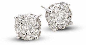 Effy 14K White Gold Stud Earrings with 1.0 TCW Diamonds